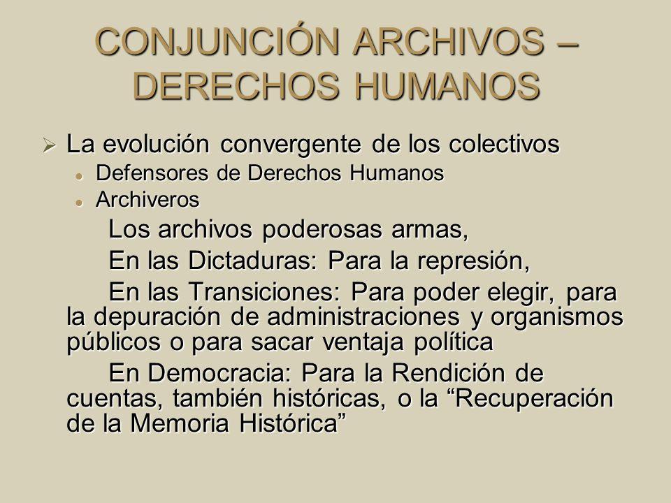 CONJUNCIÓN ARCHIVOS – DERECHOS HUMANOS