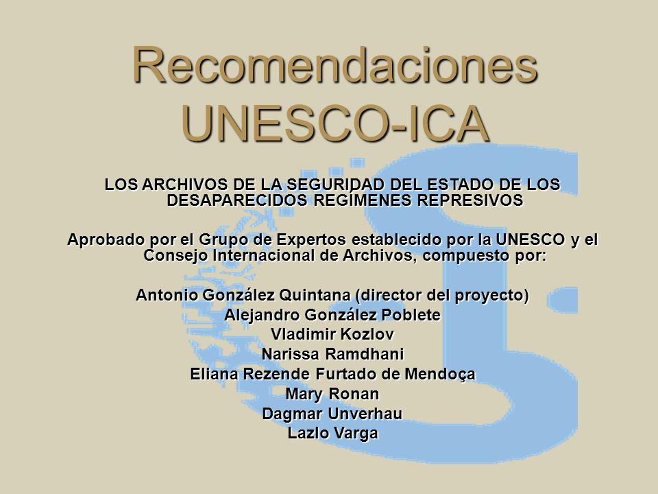Recomendaciones UNESCO-ICA
