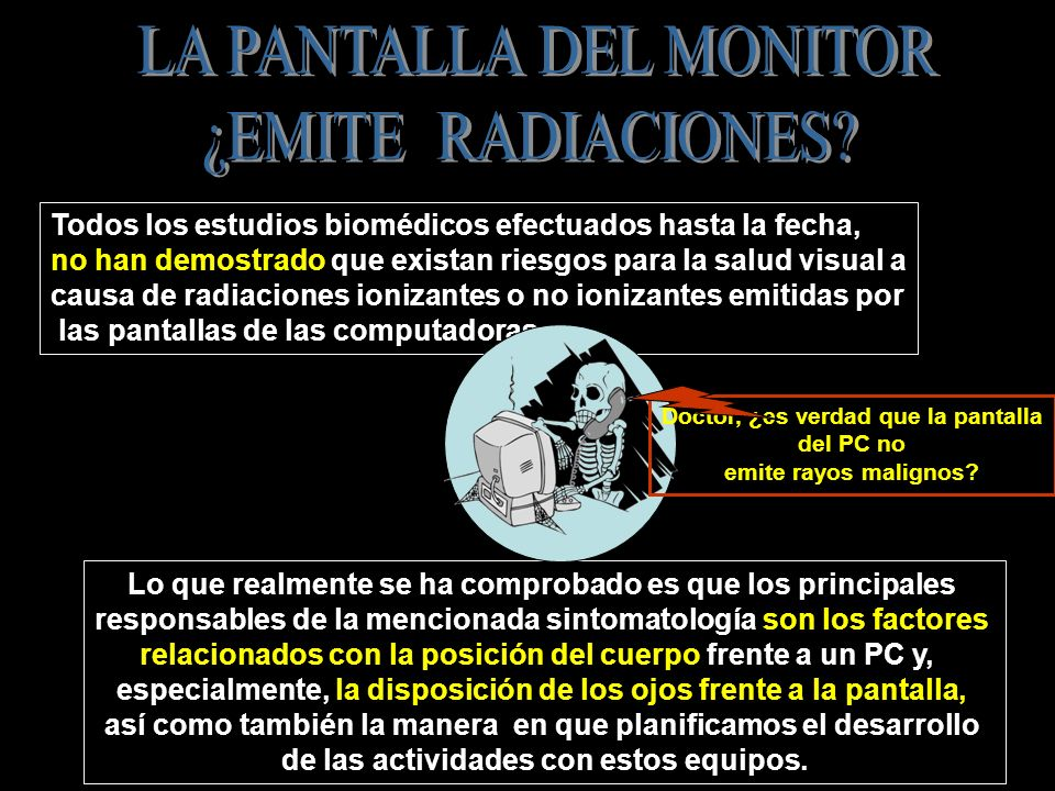 LA PANTALLA DEL MONITOR ¿EMITE RADIACIONES