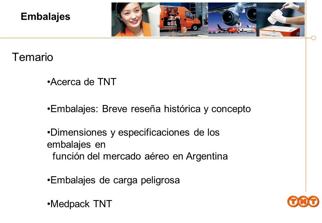 Temario Embalajes Acerca de TNT
