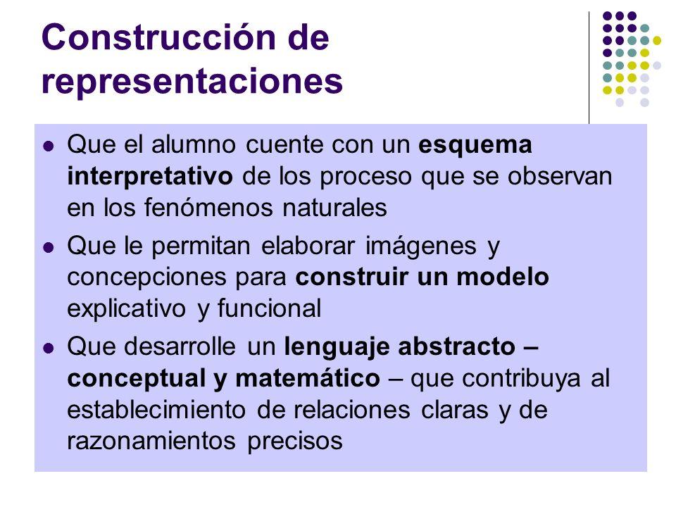 Construcción de representaciones