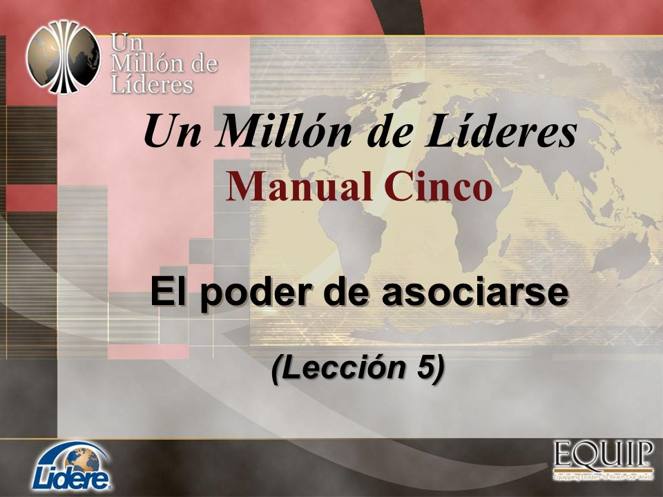 Un Millón de Líderes Manual Cinco