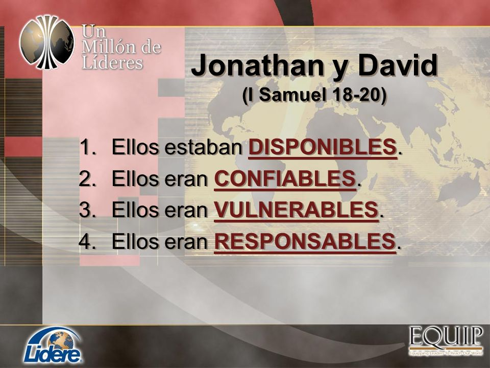 Jonathan y David (I Samuel 18-20)