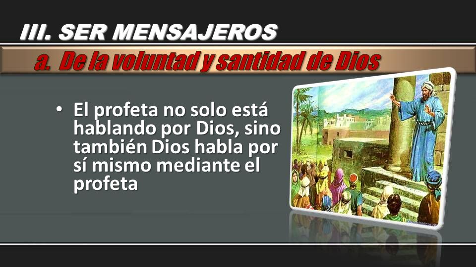 a. De la voluntad y santidad de Dios