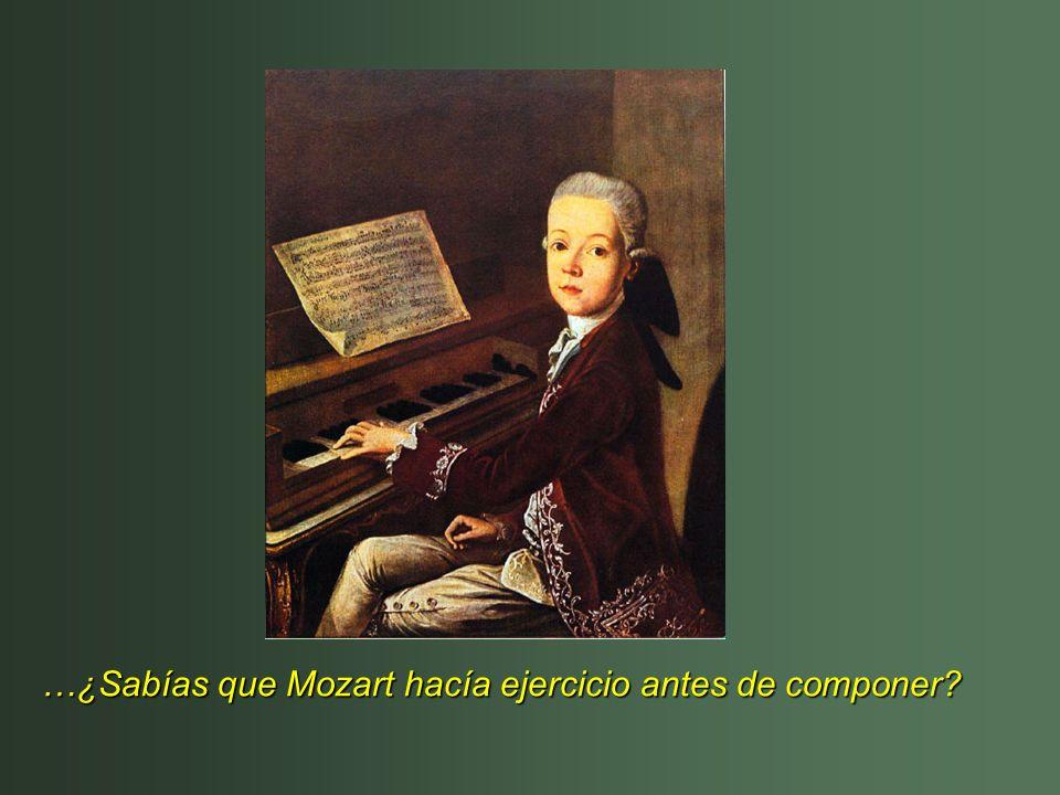 …¿Sabías que Mozart hacía ejercicio antes de componer