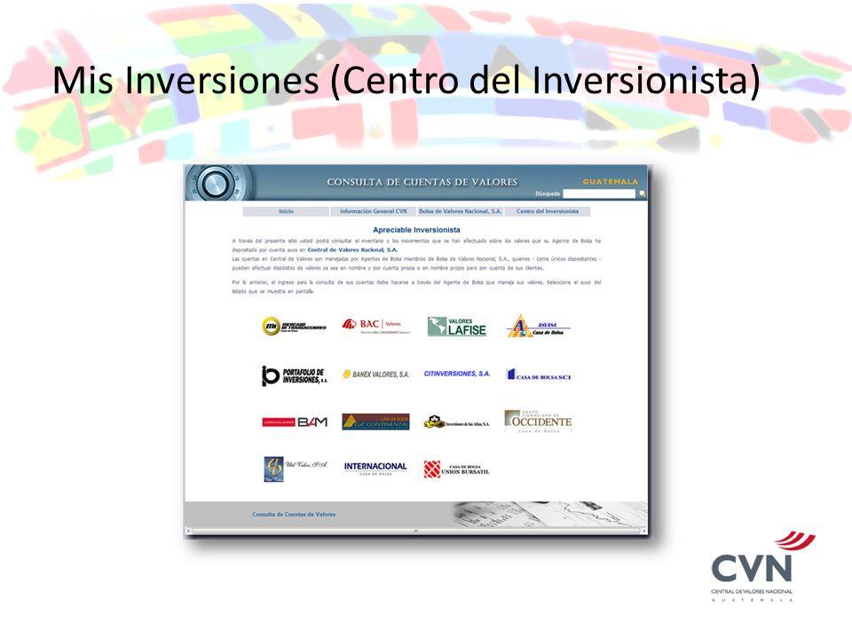 Mis Inversiones (Centro del Inversionista)