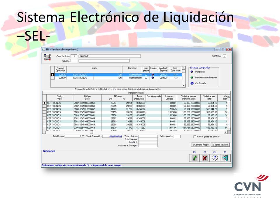 Sistema Electrónico de Liquidación –SEL-