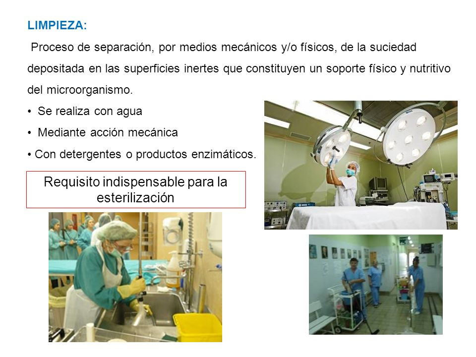 Requisito indispensable para la esterilización