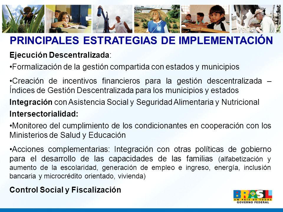 PRINCIPALES ESTRATEGIAS DE IMPLEMENTACIÓN