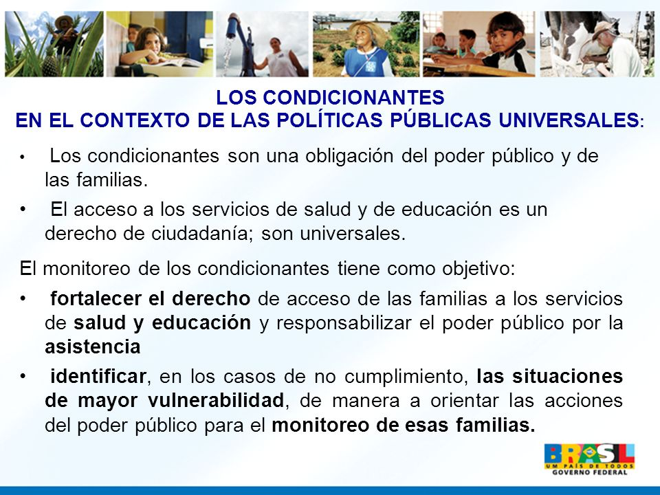 EN EL CONTEXTO DE LAS POLÍTICAS PÚBLICAS UNIVERSALES: