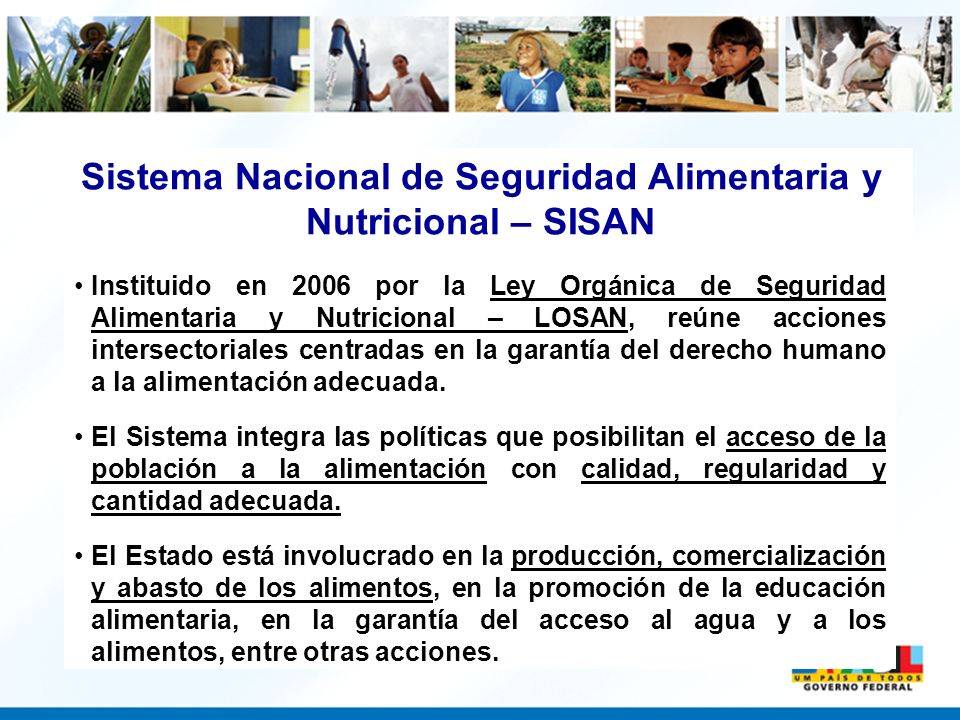 Sistema Nacional de Seguridad Alimentaria y Nutricional – SISAN