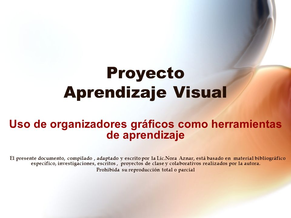 Proyecto Aprendizaje Visual