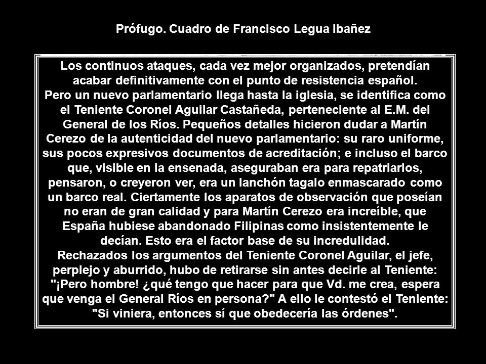 Prófugo. Cuadro de Francisco Legua Ibañez