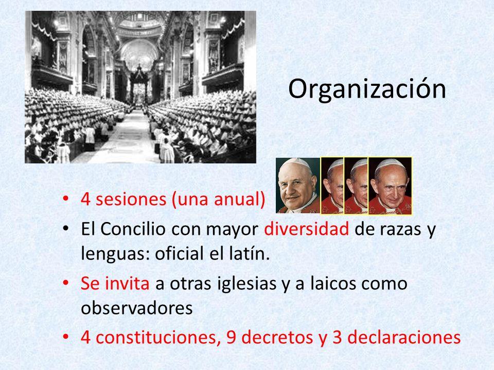 Organización 4 sesiones (una anual)