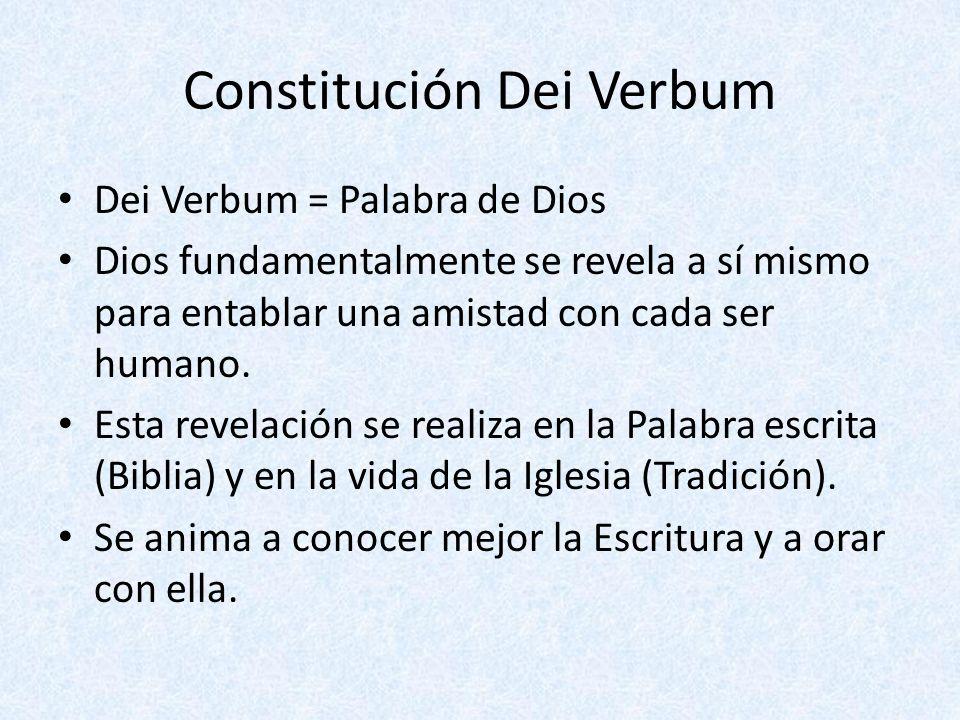 Constitución Dei Verbum