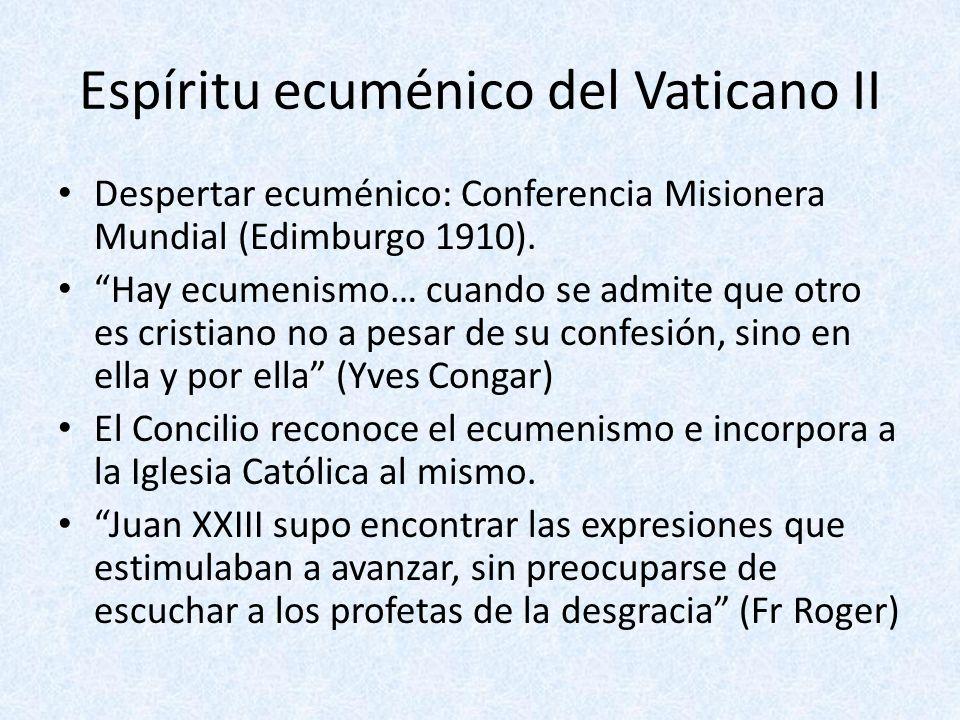 Espíritu ecuménico del Vaticano II
