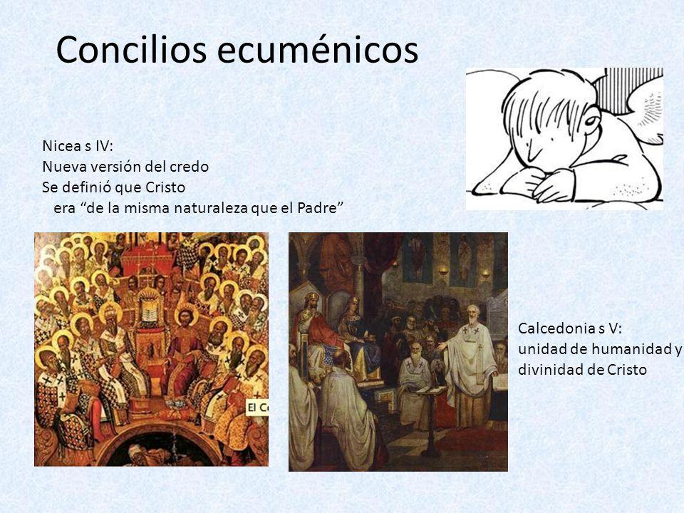 Concilios ecuménicos Nicea s IV: Nueva versión del credo