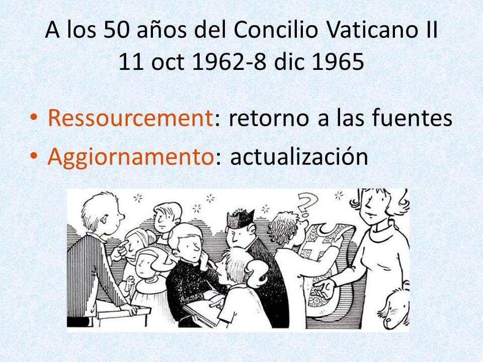 A los 50 años del Concilio Vaticano II 11 oct 1962-8 dic 1965