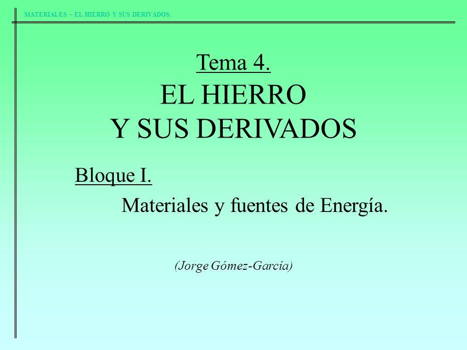 Y SUS DERIVADOS Tema 4. EL HIERRO Bloque I.