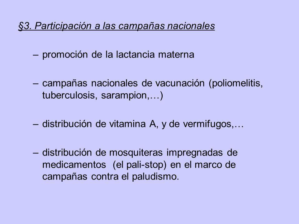§3. Participación a las campañas nacionales