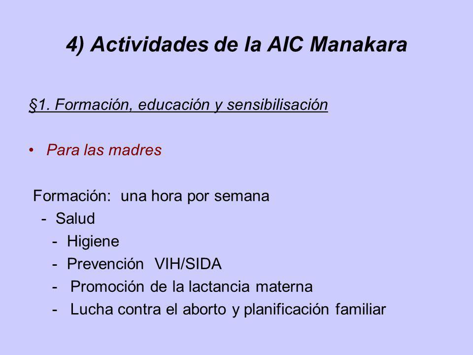4) Actividades de la AIC Manakara