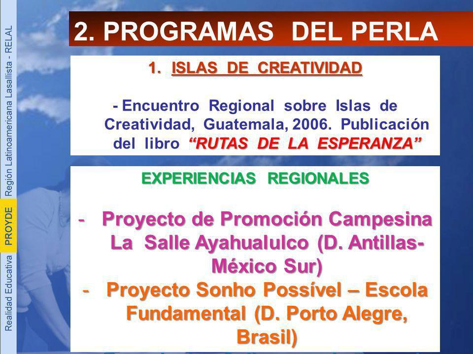 2. PROGRAMAS DEL PERLA ISLAS DE CREATIVIDAD.