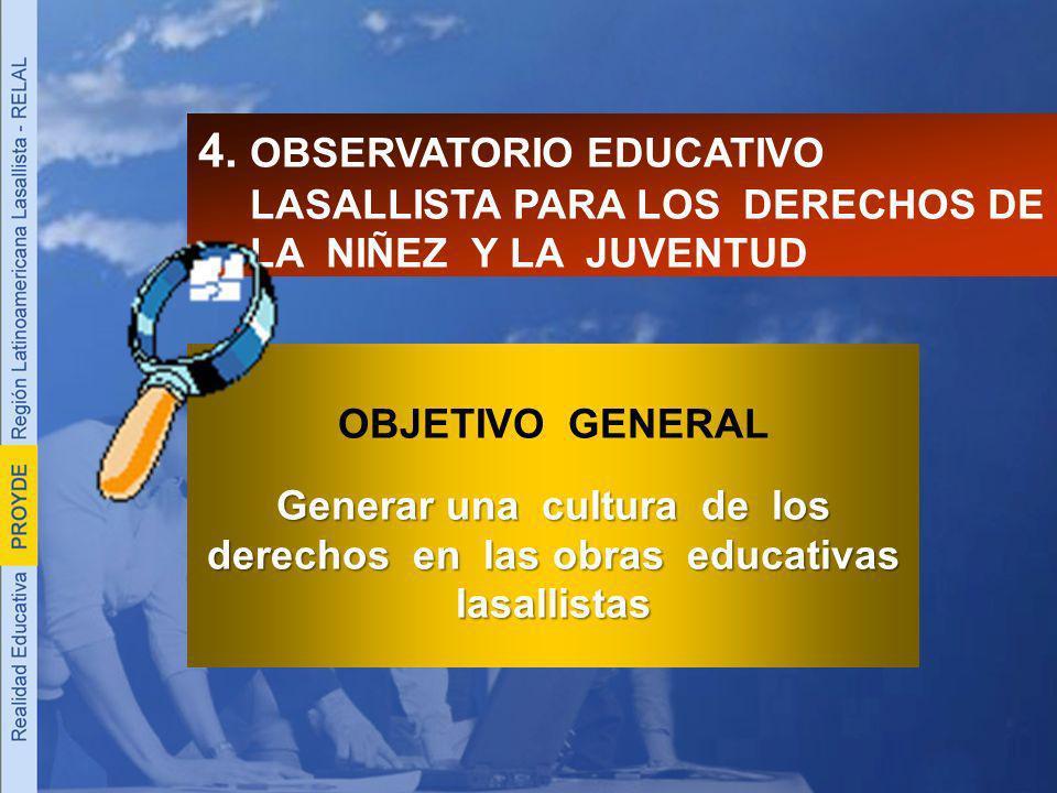 4. OBSERVATORIO EDUCATIVO LASALLISTA PARA LOS DERECHOS DE LA NIÑEZ Y LA JUVENTUD