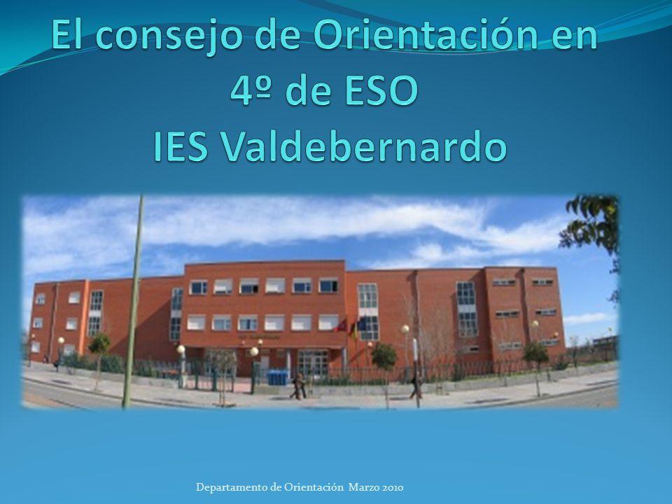 El consejo de Orientación en 4º de ESO IES Valdebernardo