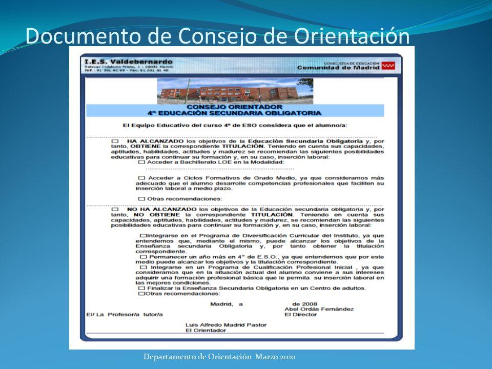 Documento de Consejo de Orientación
