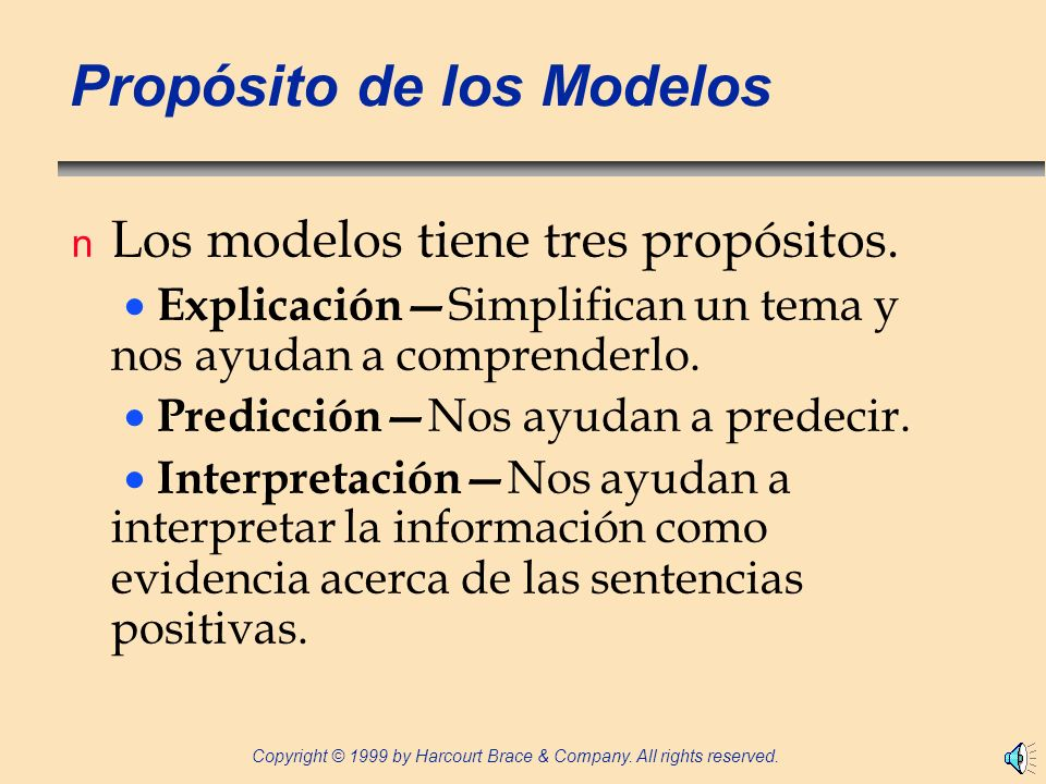Propósito de los Modelos