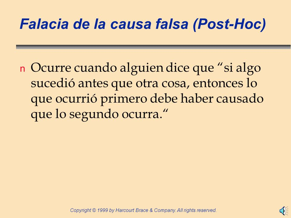 Falacia de la causa falsa (Post-Hoc)