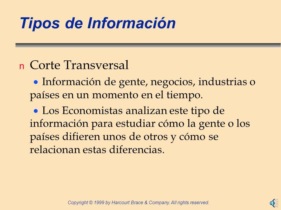 Tipos de Información Corte Transversal
