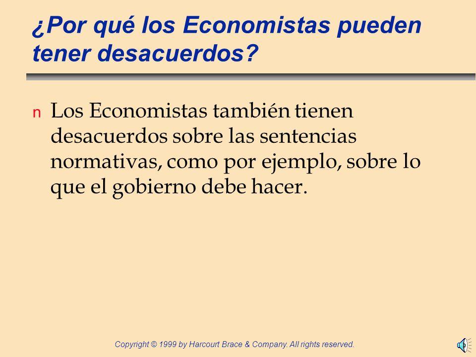 ¿Por qué los Economistas pueden tener desacuerdos