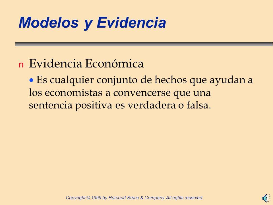 Modelos y Evidencia Evidencia Económica