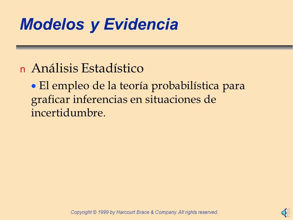 Modelos y Evidencia Análisis Estadístico