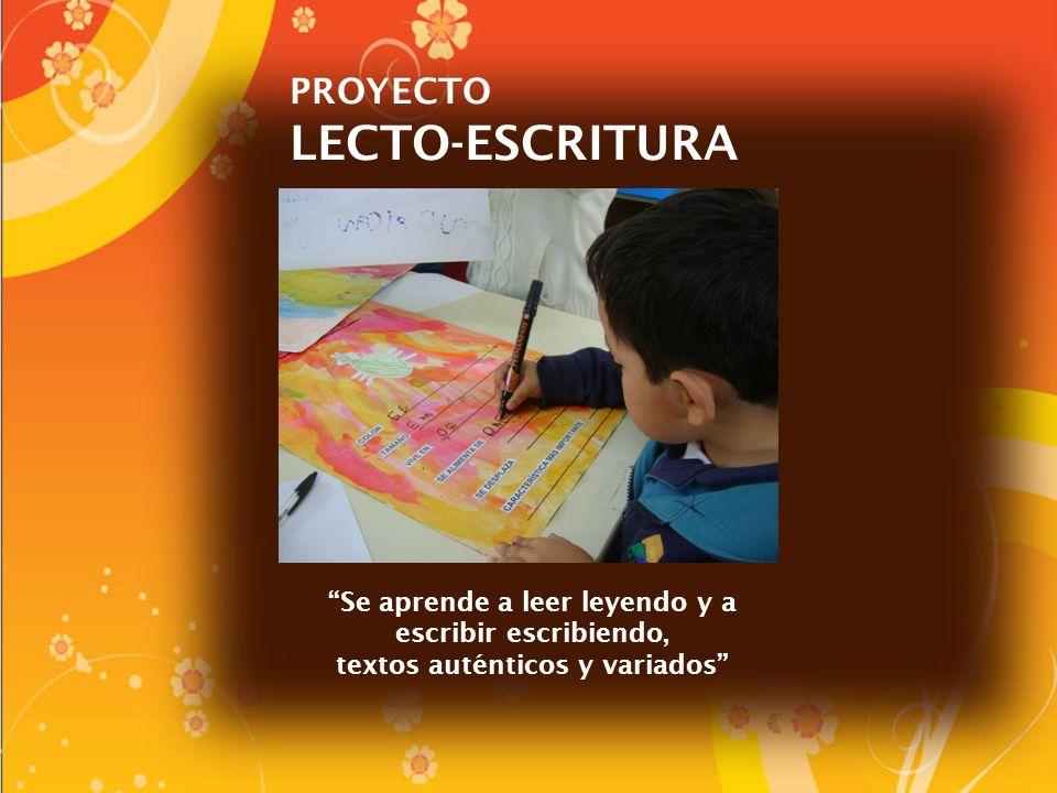 PROYECTO LECTO-ESCRITURA