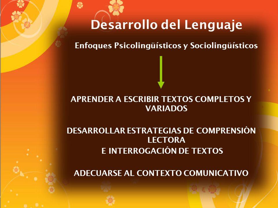 Desarrollo del Lenguaje Enfoques Psicolingüísticos y Sociolingüísticos