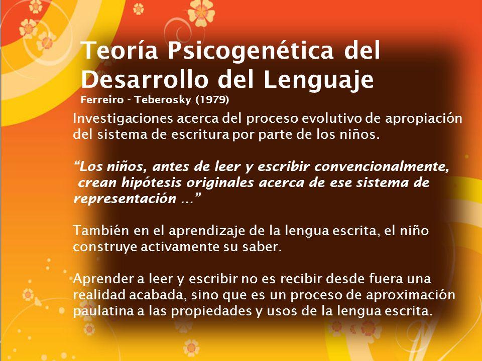 Teoría Psicogenética del Desarrollo del Lenguaje