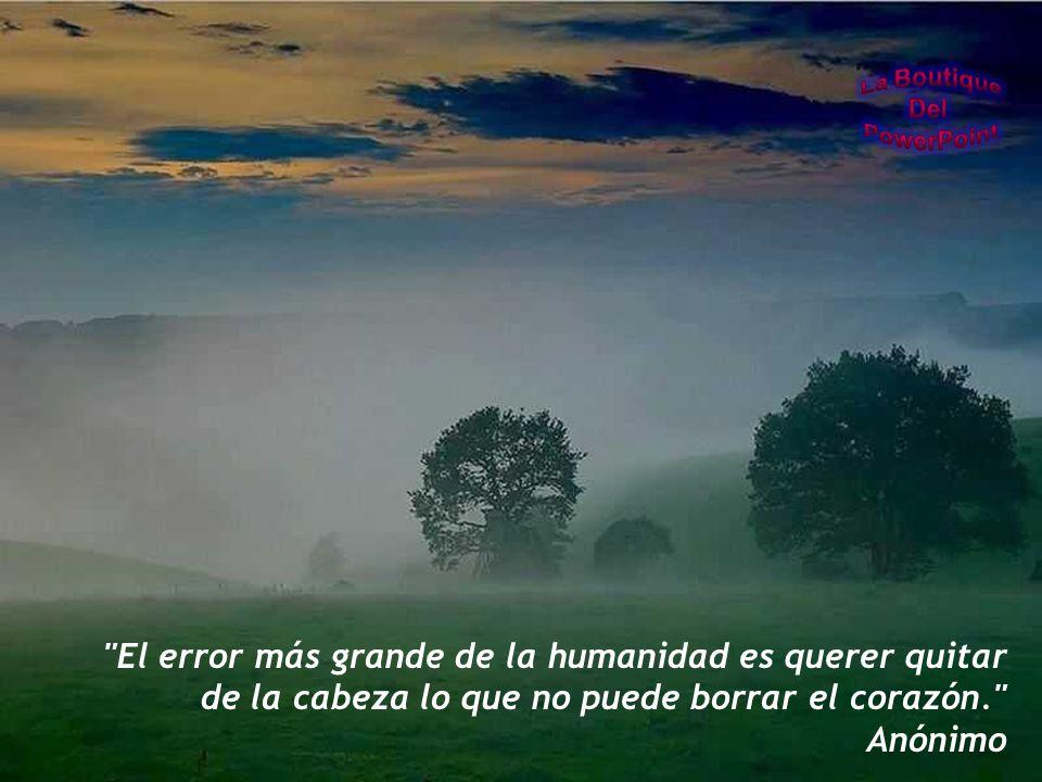 El error más grande de la humanidad es querer quitar de la cabeza lo que no puede borrar el corazón.