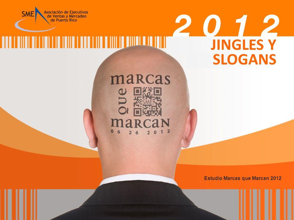 JINGLES Y SLOGANS Estudio Marcas que Marcan 2012