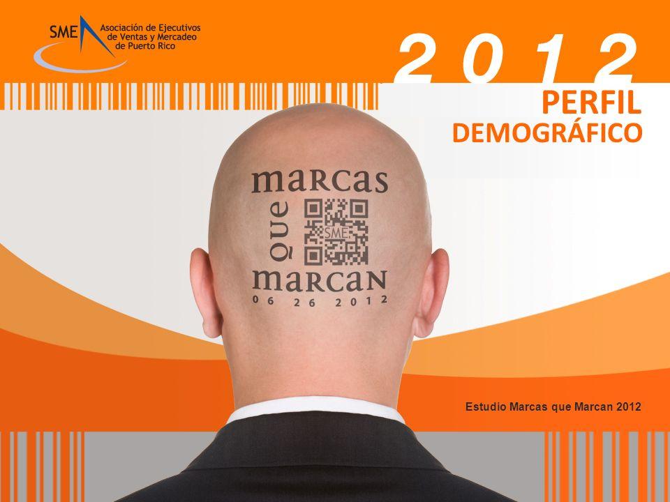 PERFIL DEMOGRÁFICO Estudio Marcas que Marcan 2012