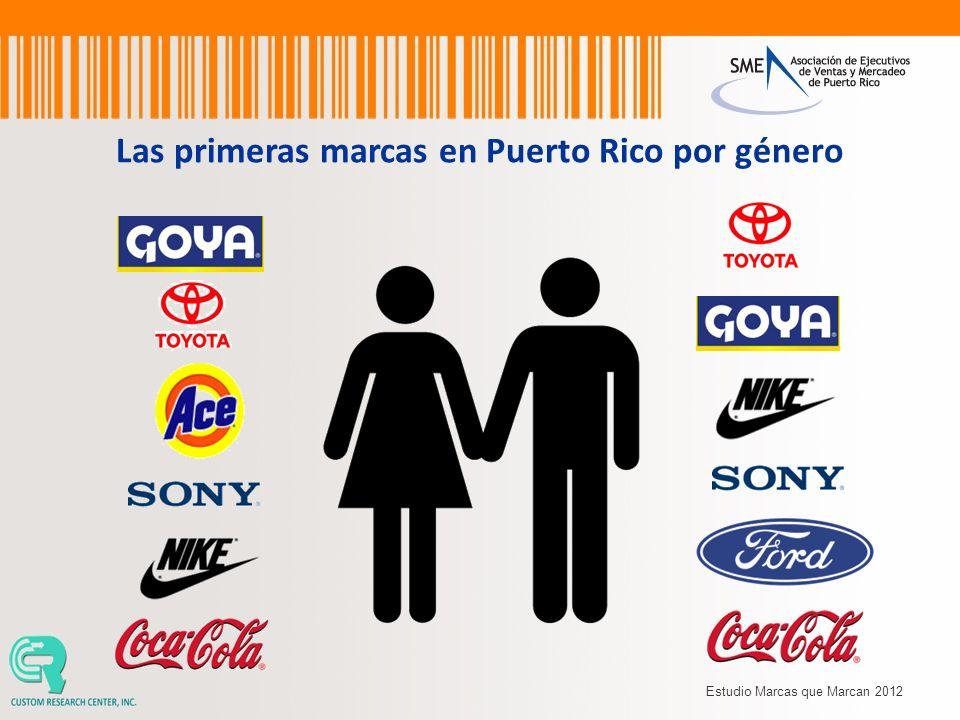 Las primeras marcas en Puerto Rico por género
