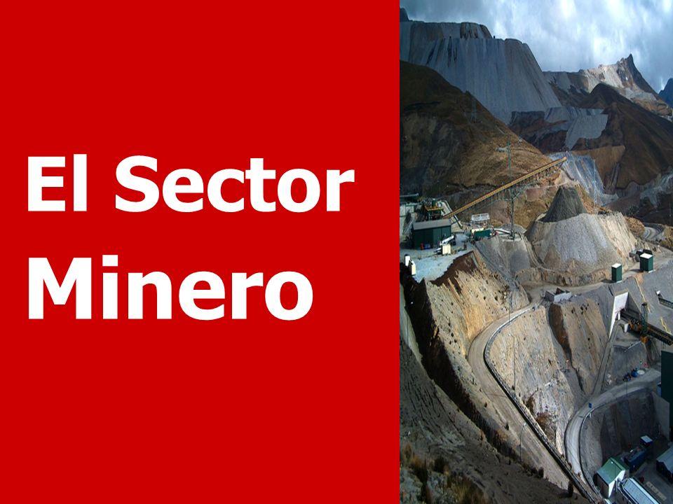 El Sector Minero Veamos el desempeño y potencial de desarrollo del sector minero.