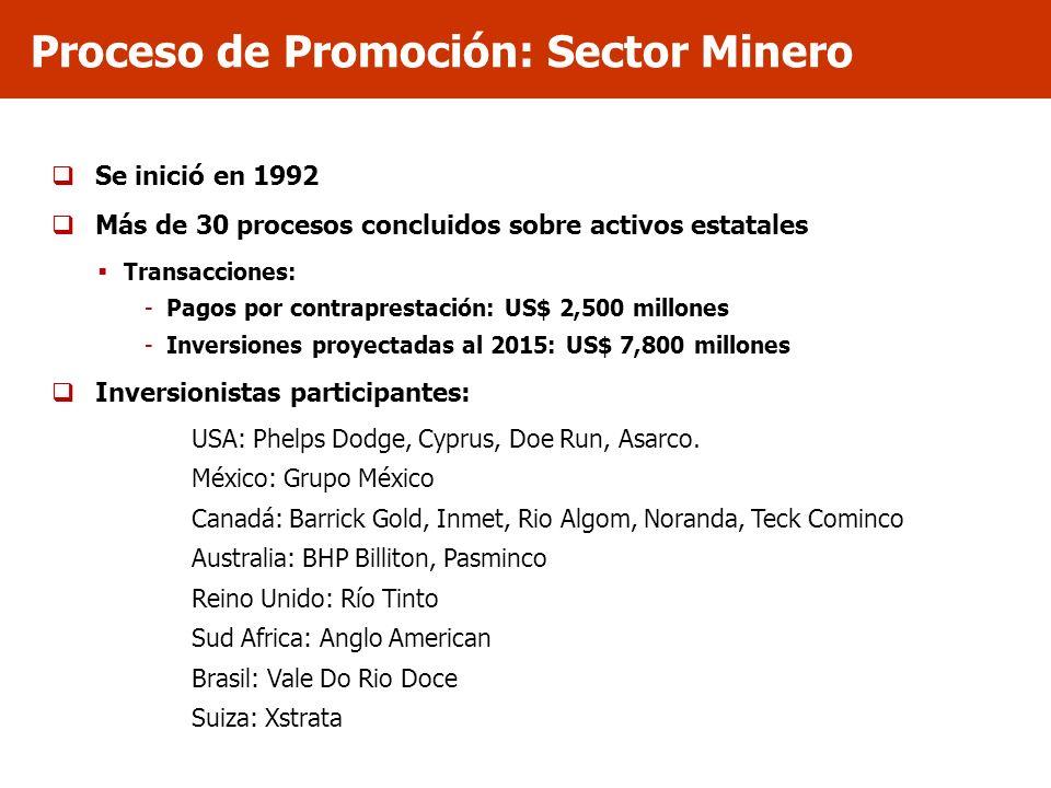 Proceso de Promoción: Sector Minero