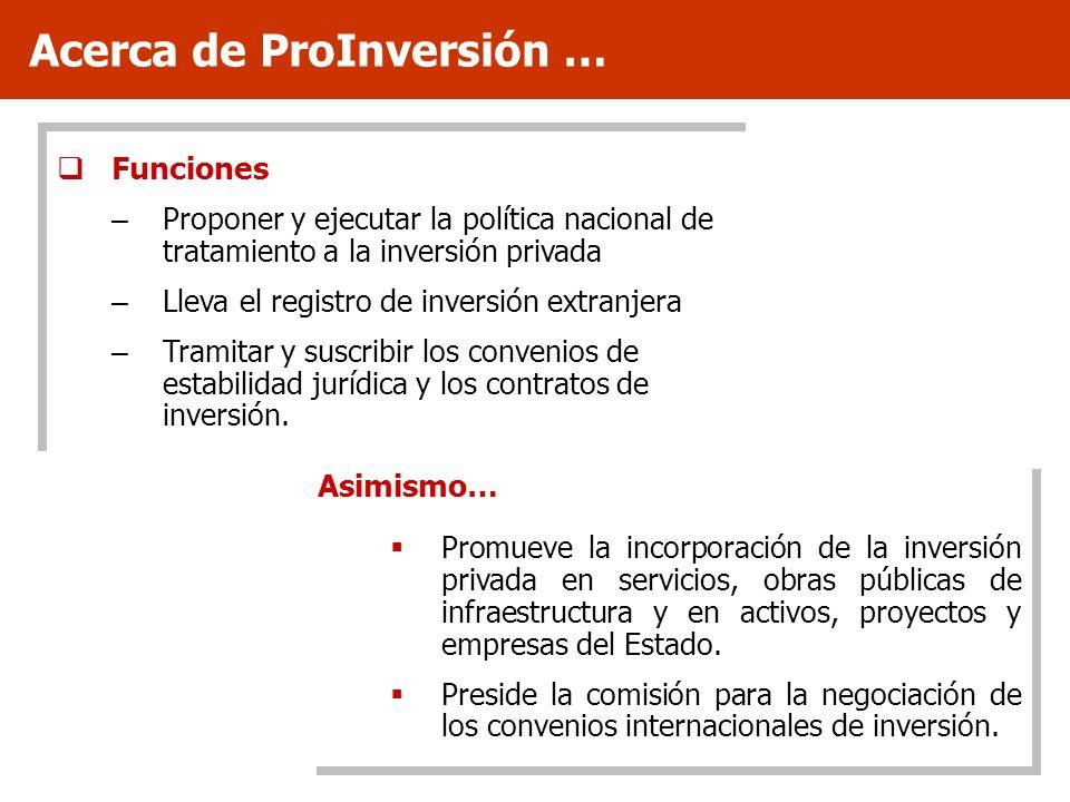 Acerca de ProInversión …