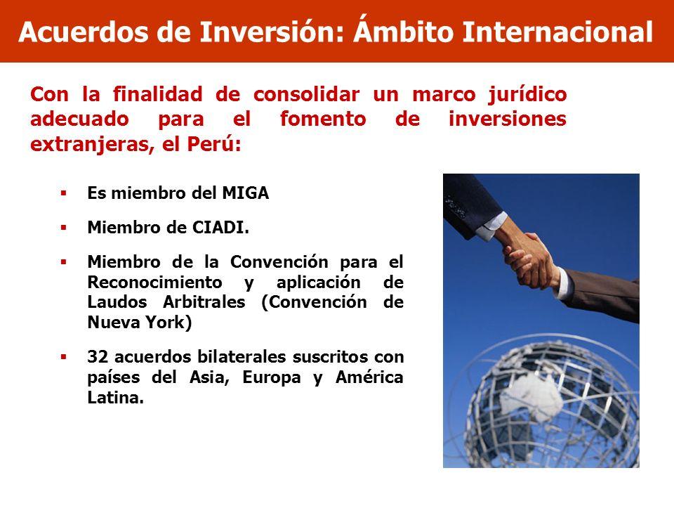 Acuerdos de Inversión: Ámbito Internacional