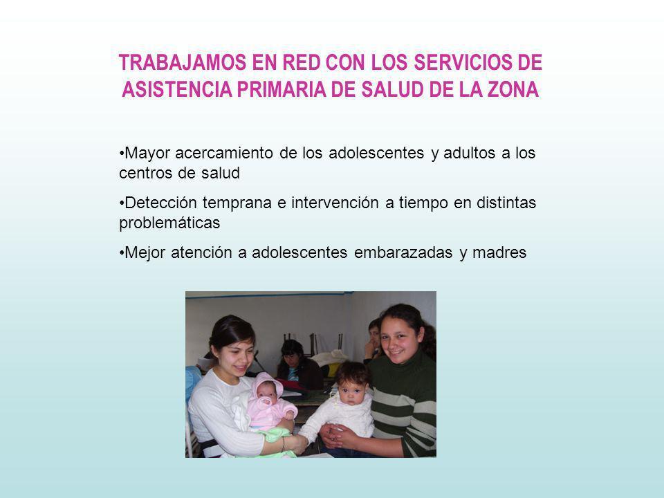 TRABAJAMOS EN RED CON LOS SERVICIOS DE ASISTENCIA PRIMARIA DE SALUD DE LA ZONA