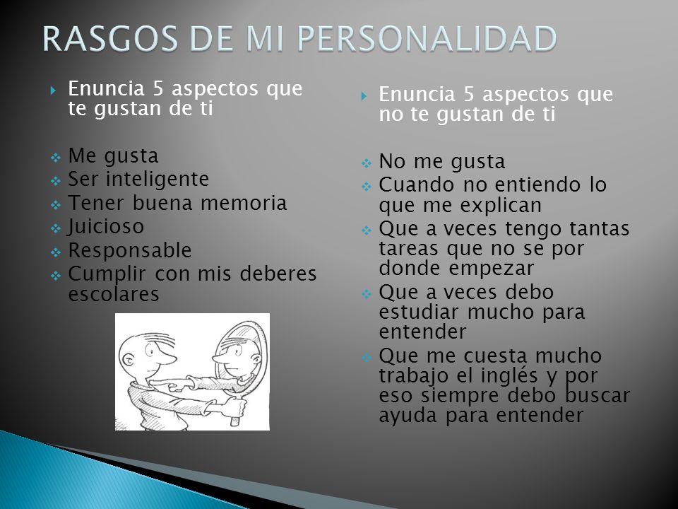 RASGOS DE MI PERSONALIDAD