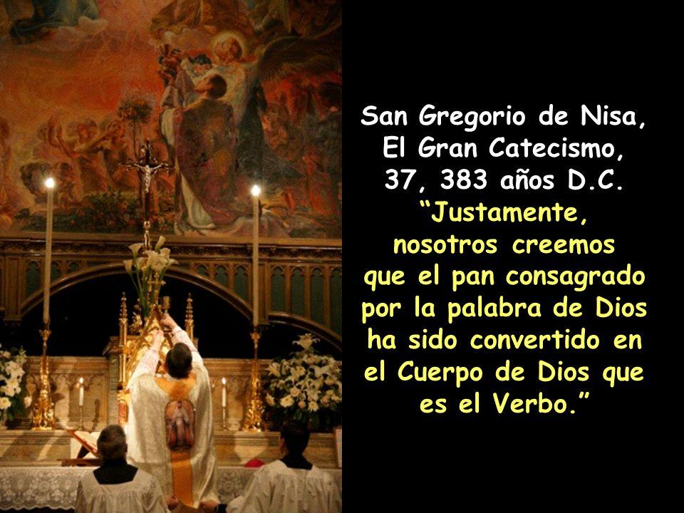 San Gregorio de Nisa, El Gran Catecismo, 37, 383 años D.C.