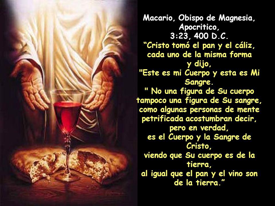 Macario, Obispo de Magnesia, Apocritico, 3:23, 400 D.C.